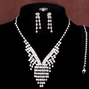 Jewelry - Rhinestone 4 piece Night On The Town Wedding Event